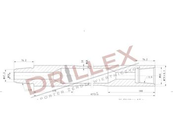 Vermeer D36x50 Φ68 4,5m Drill pipes, żerdzie  - attrezzatura