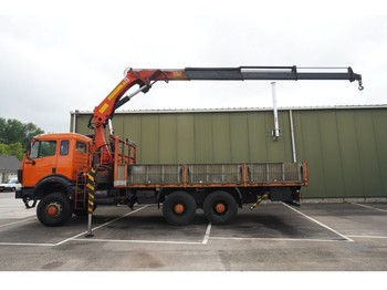 Mercedes-Benz 2635 AK 6X6 OPEN BOX WITH PALFINGER PK 28000B CRANE - autocarro
