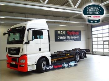 MAN TGX 26.440 6X2-4 LL, Euro 6, 4.800 mm Radst. - portacontainer/ caisse interchangeable autocarro