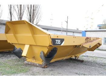 Cassone ribaltabile CATERPILLAR KIPPER TIPPER BODY DUMPER CATERPILLAR CAT 735 FLAP DOOR