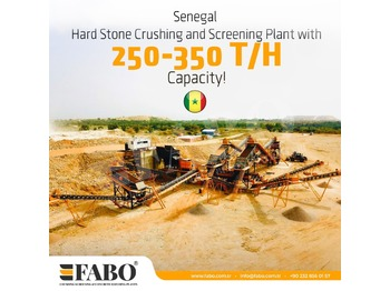 FABO READY IN STOCK STATIONARY CRUSHING & SCREENING PLANT 250-350 TPH - frantoi
