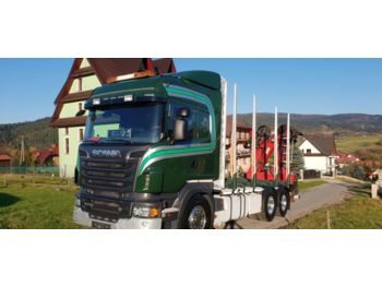 Scania R730 do drewna do lasu kłody epsilon loglift penz - camion trasporto legname