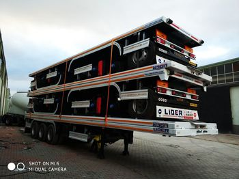 Semirimorchio portacontainer/ caisse interchangeable LIDER NEW 2020 MODELS YEAR (MANUFACTURER COMPANY LIDER TRAILER: foto 1
